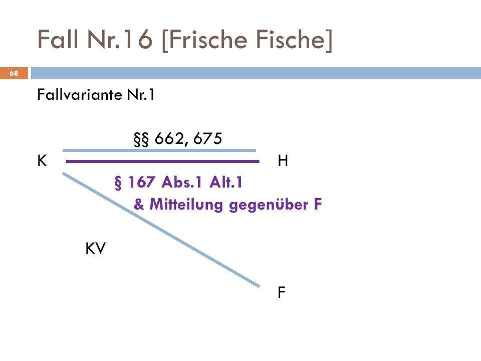 Fall Nr.16 [Frische Fische]